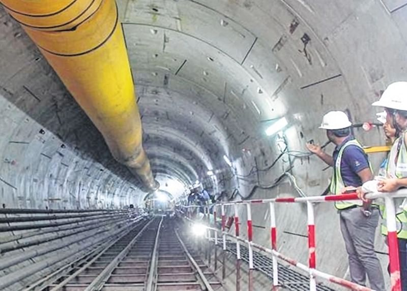 MMRCL mumbai on tree plantation; but claims underground tunnelling work on fast track