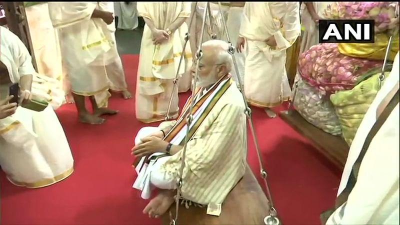 PM Modi reaches Guruvayur to offer prayers at Lord Krishna temple