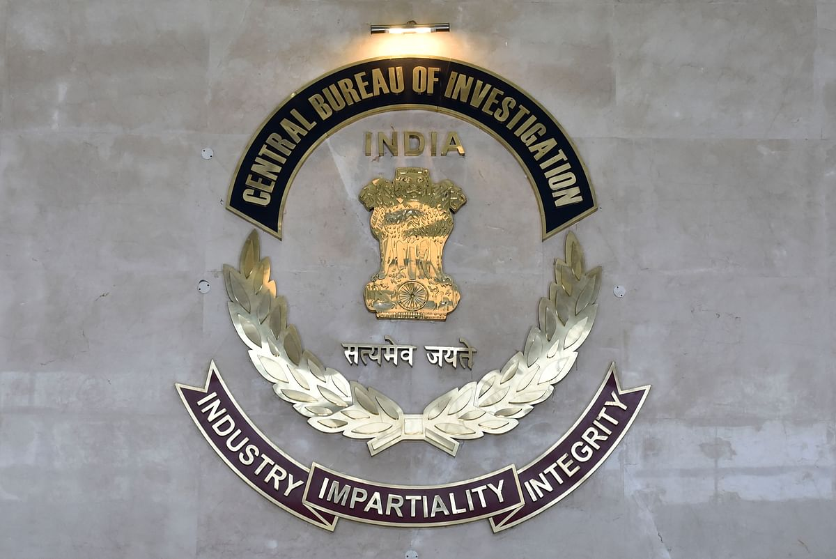 Central Bureau of Investigation (CBI) logo at CBI HQ, in New Delhi.