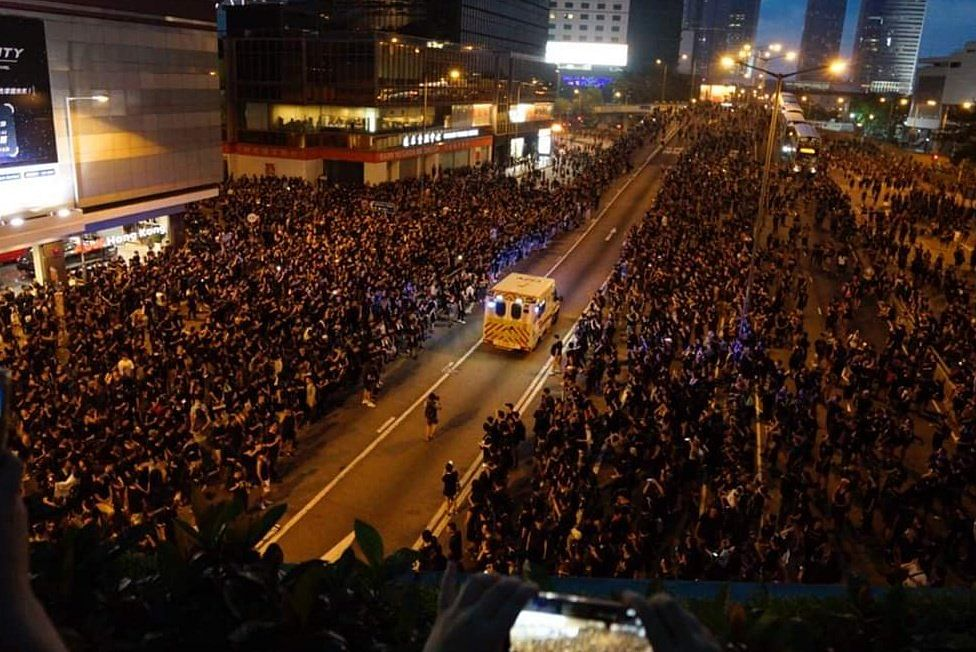 Watch Video: Protestors in Hong Kong allow ambulance to pass, garner praise online