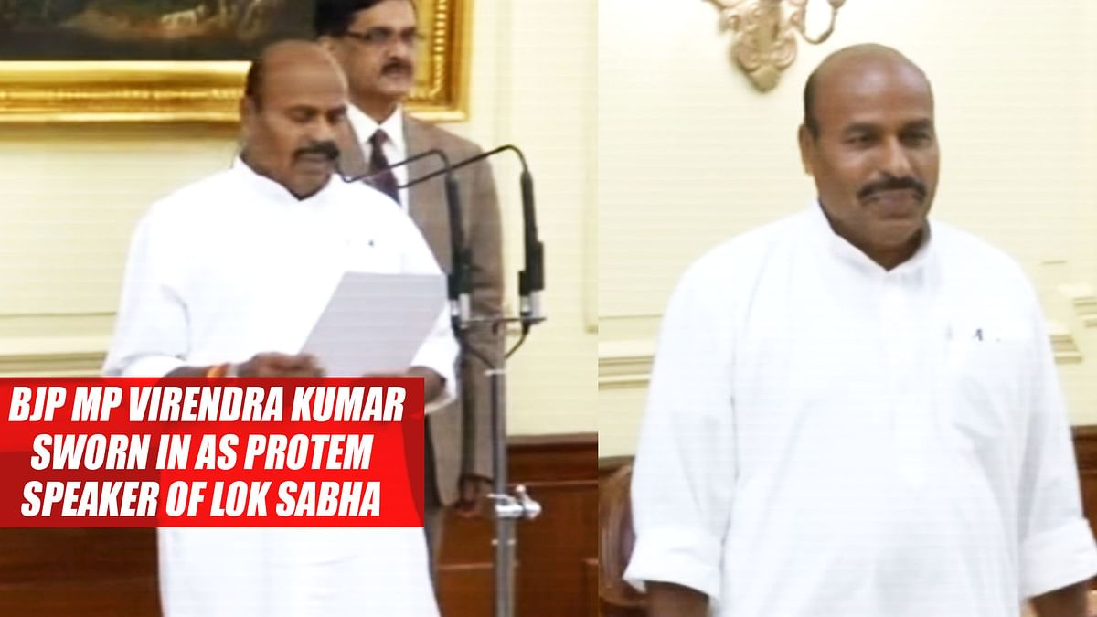 BJP MP Virendra Kumar Sworn In As Protem Speaker Of Lok Sabha
