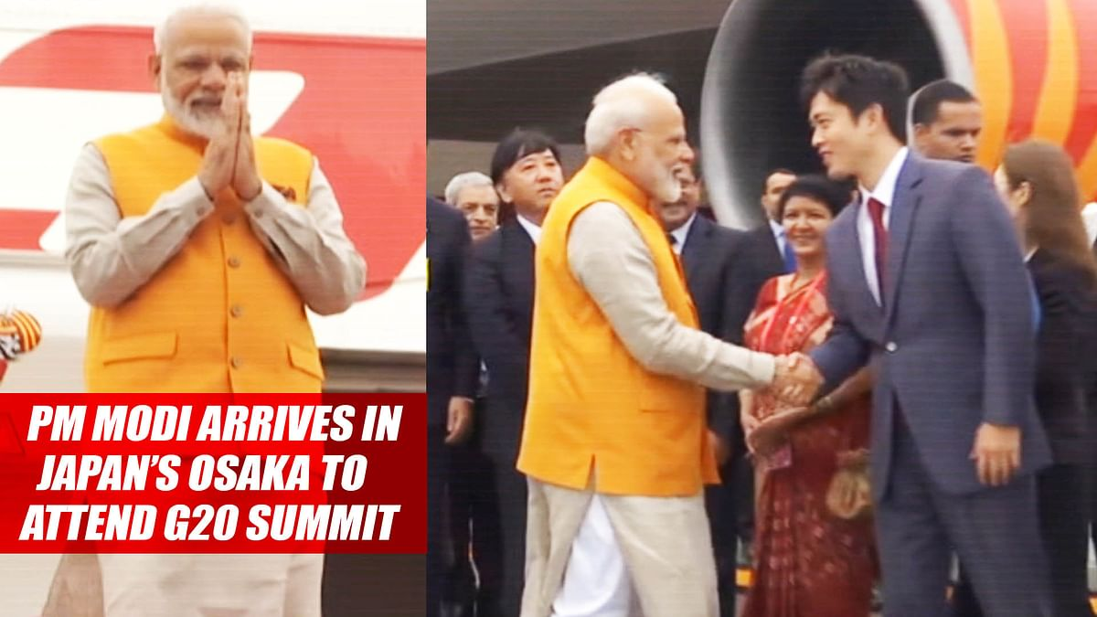 PM Modi arrives in Japan's Osaka to attend G20 Summit