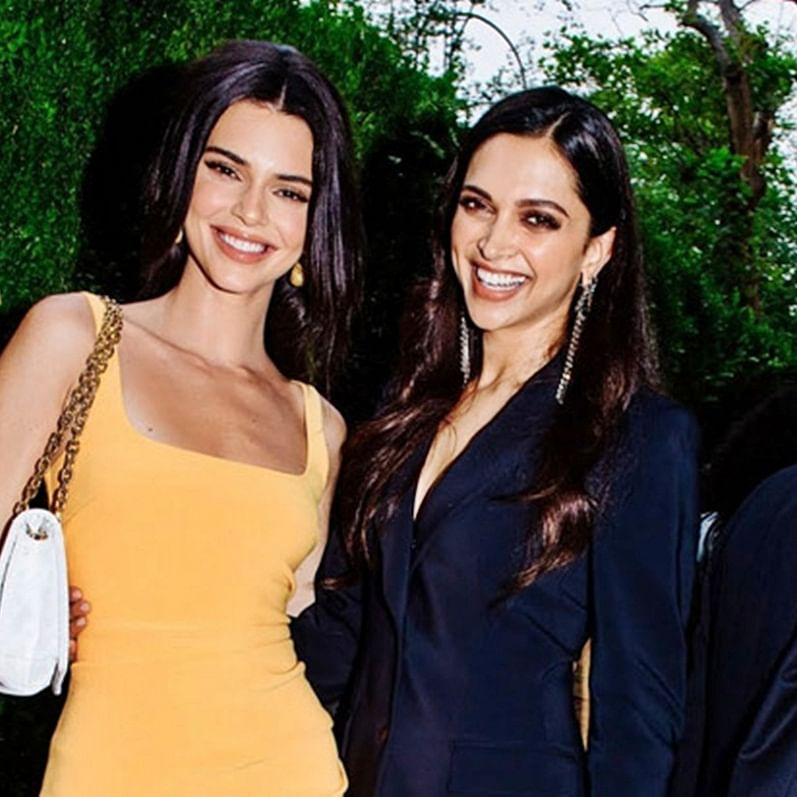 Deepika Padukone poses with Kendall Jenner at Soho, New York