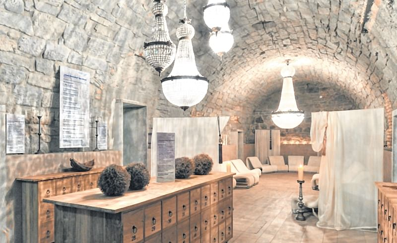The cavernous interiors of the Thermalbad & Spa Zürich