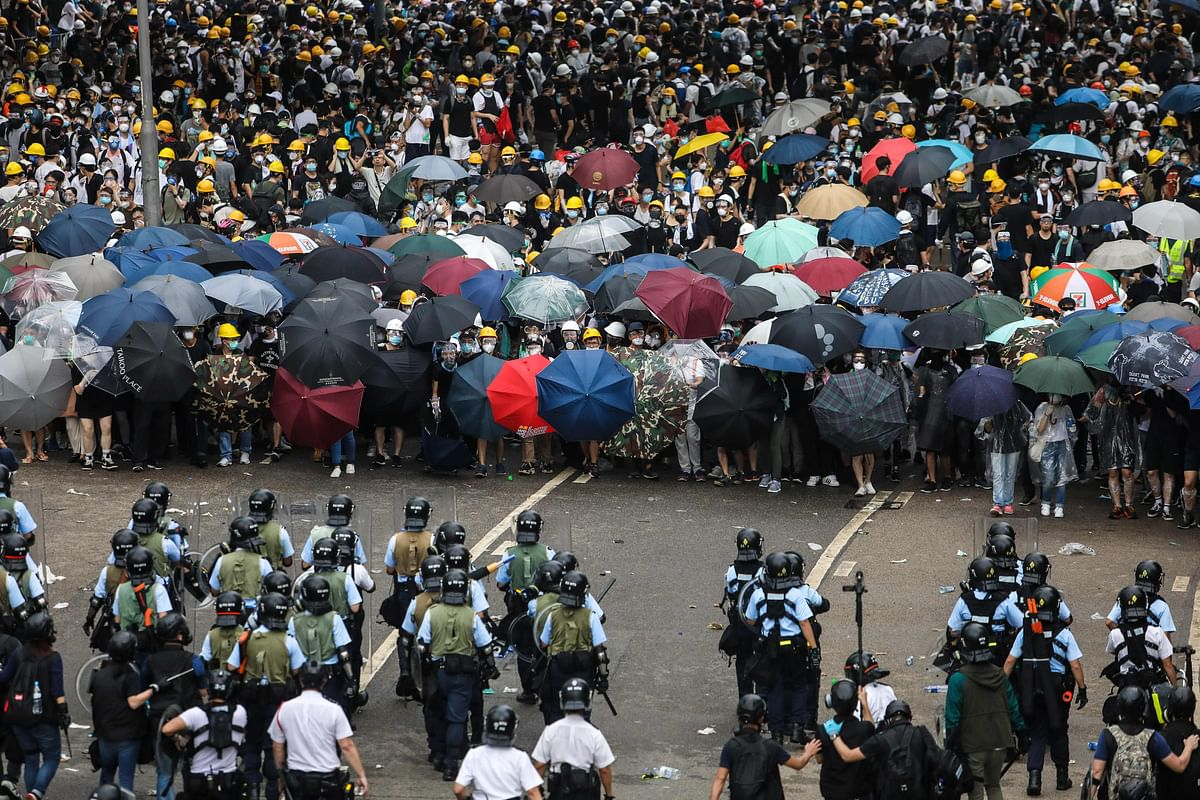 Lawyers march through Hong Kong against 'political persecution'