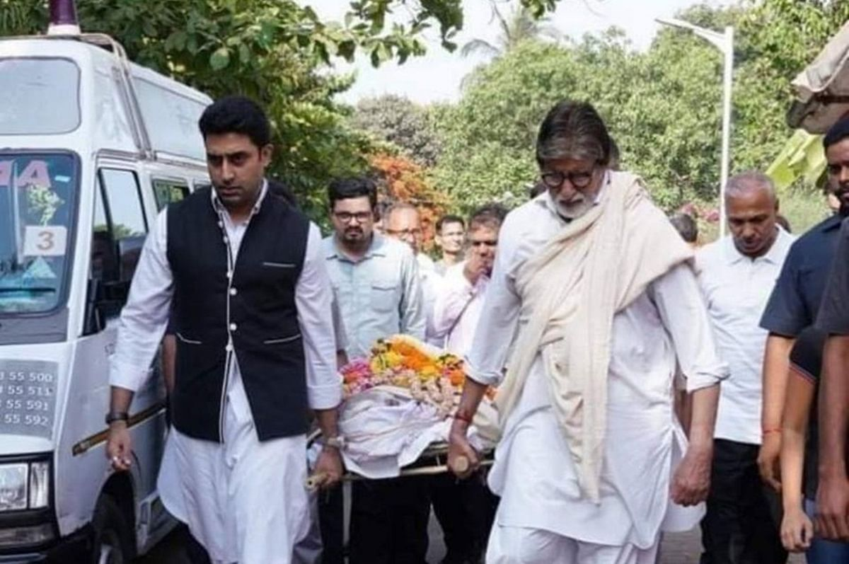 Amitabh and Abhishek Bachchan pay last respects to their domestic staffer
