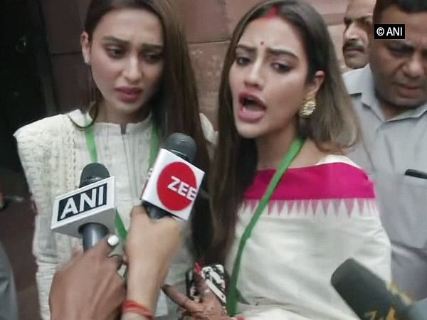 TMC MPs Mimi Chakraborty, Nusrat Jahan raise first issue in Parliament