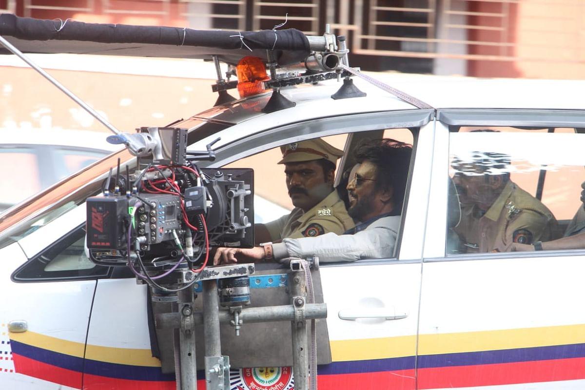 Leaked Photos: Rajinikanth shoots for cop drama 'Darbar' in Mumbai