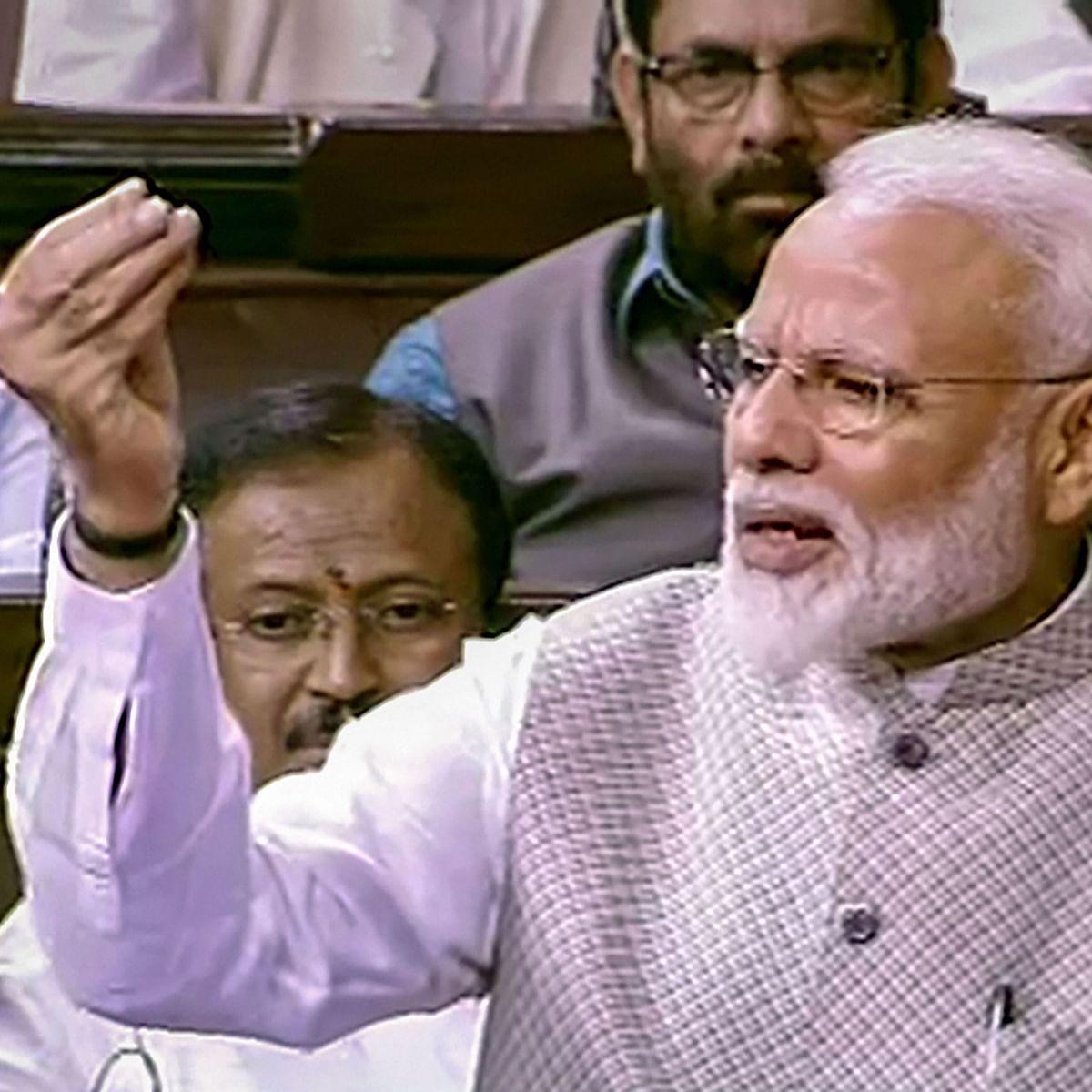 'Does Congress' loss mean India's loss': PM Modi in Rajya Sabha