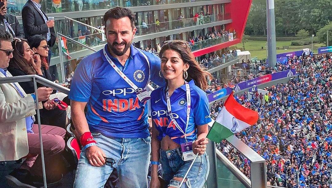 Saif Ali Khan enjoys Ind vs Pak match with Pooja Bedi's daughter Alaia