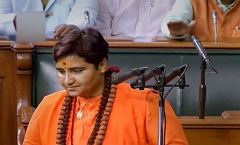 Pragya Thakur creates row with her name while taking oath at 17th Lok Sabha session