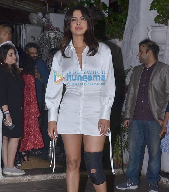 Priyanka Chopra's knee brace at 'The Sky Is Pink' wrap up party has gotten fans worried