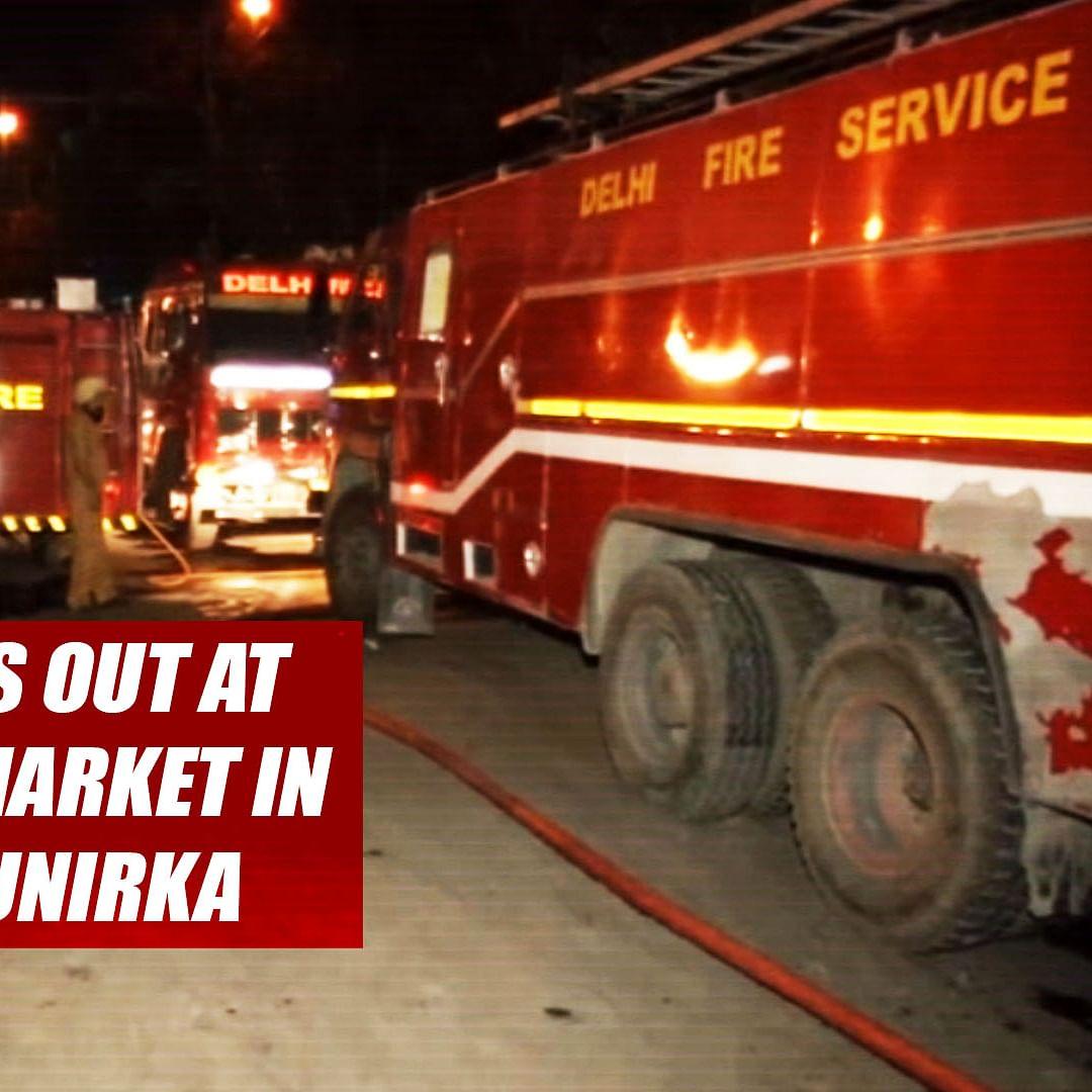 Fire Breaks Out At Furniture Market In Delhi's Munirka