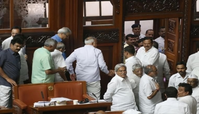 No floor test in Karnataka Assembly due to ruckus