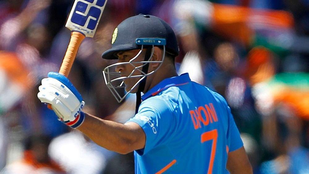 Indian cricketer Mahendra Singh Dhoni