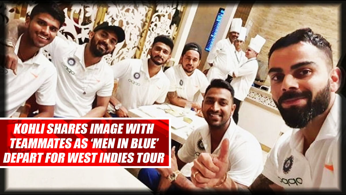 Kohli Shares Image With Teammates As 'Men In Blue' Depart For West Indies Tour