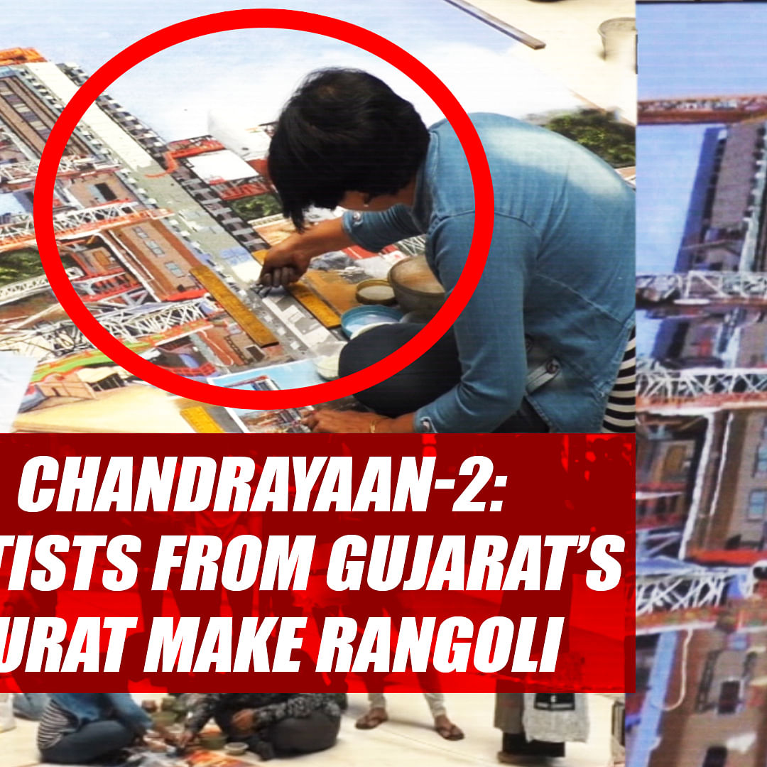 Chandrayaan-2: Artists From Gujarat's Surat Make Rangoli