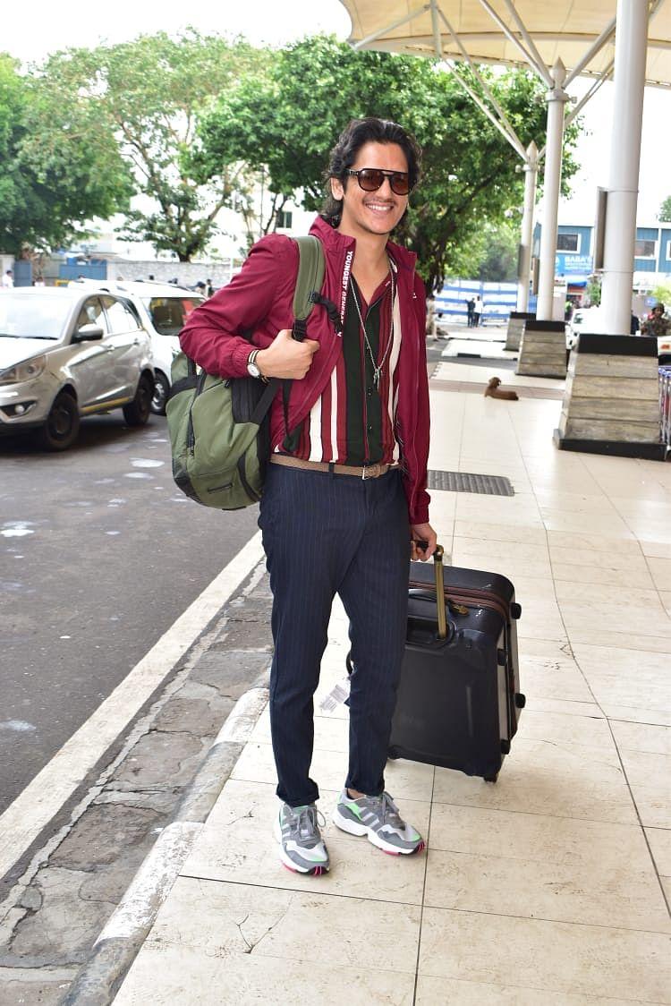 'Gully Boy' fame Vijay Varma at airport today morning.