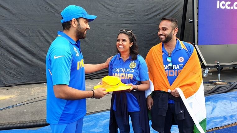 World Cup 2019: Rohit Sharma presents autographed hat to fan, who was hit by ball