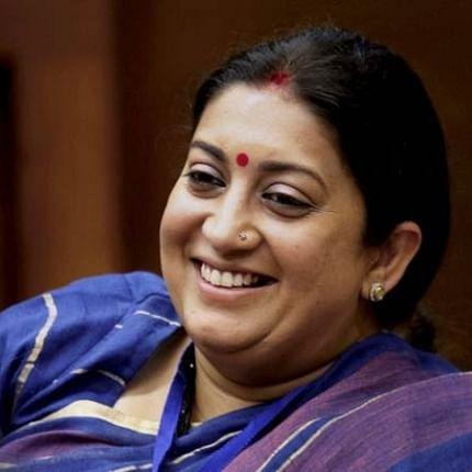 Smriti Irani gets promoted to front row seat in Lok Sabha