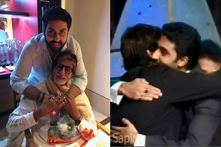Amitabh Bachchan gets teary-eyed after watching a throwback video of son Abhishek