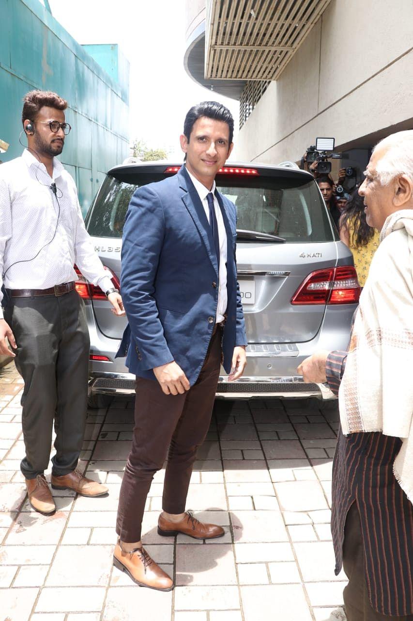 Sharman Joshi at Mission Mangal's trailer launch at Fun Republic in Andheri.
