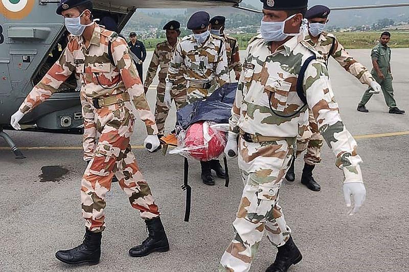Nandi Devi avalanche: Bodies of 7 mountaineers brought to Munsyari