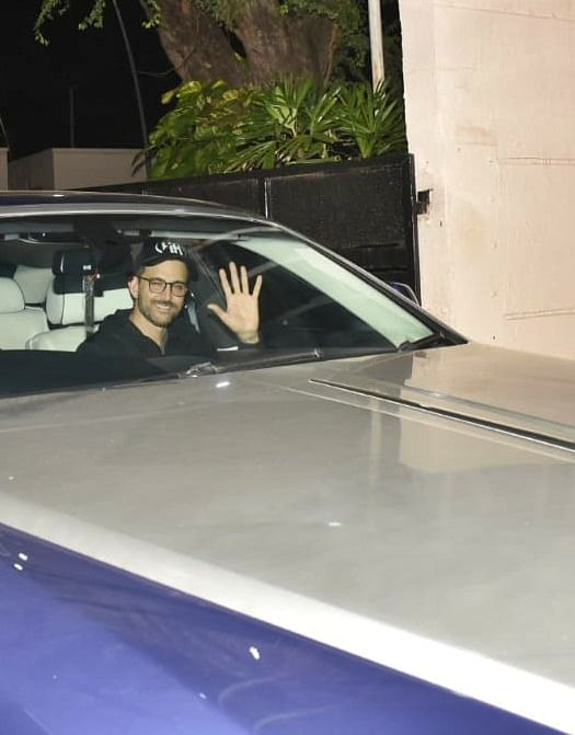 Hrithik Roshan who is currently enjoying the success of Super 30 was seen at the Private Airport of Mumbai.