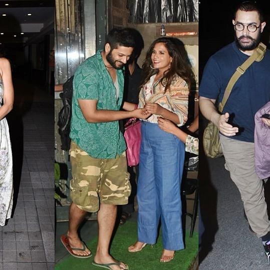 Celebrity Spotting: Malaika Arora, Richa Chaddha, Aamir Khan and others