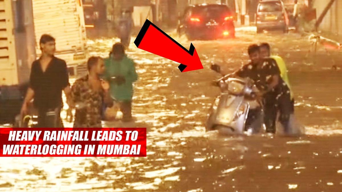 Heavy Rainfall Leads To Waterlogging In Mumbai