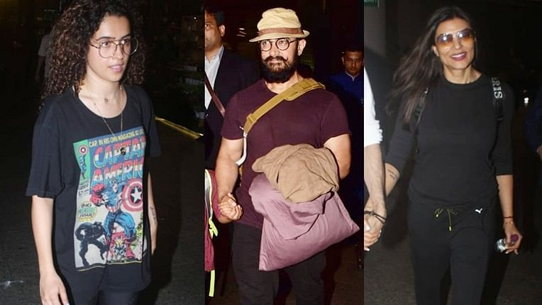 Clicked! Aamir Khan, Sushmita Sen, Sanya Malhotra and more snapped around the city