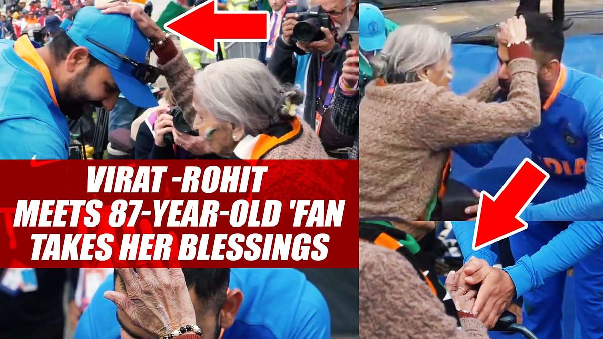 Virat Kohli, Rohit Sharma Meets 87-Year-Old 'Most Passionate' Fan; Takes Her Blessings