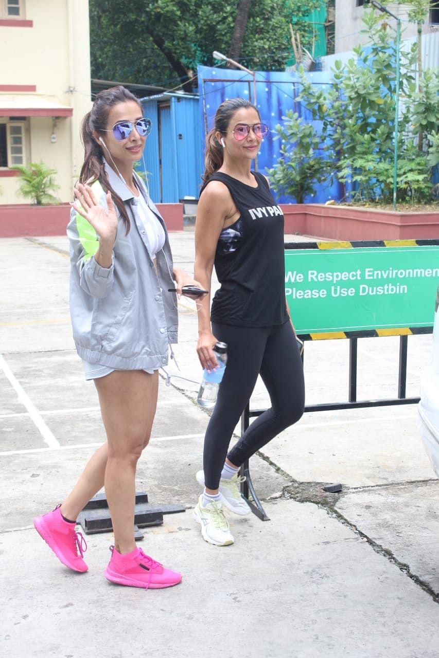 Malaika Arora and Amrita Arora snapped at I think fitness