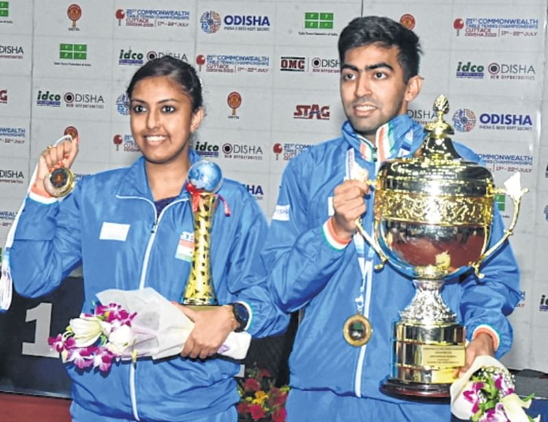 Harmeet Desai, Ayhika Mukherjee win gold as hosts claim seven gold for a complete sweep