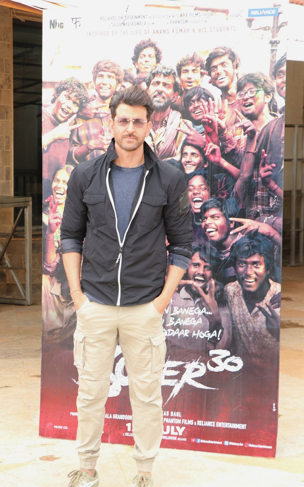 Hrithik Roshan's Super 30 is releasing the actor is busy in the promoting the film across the city.