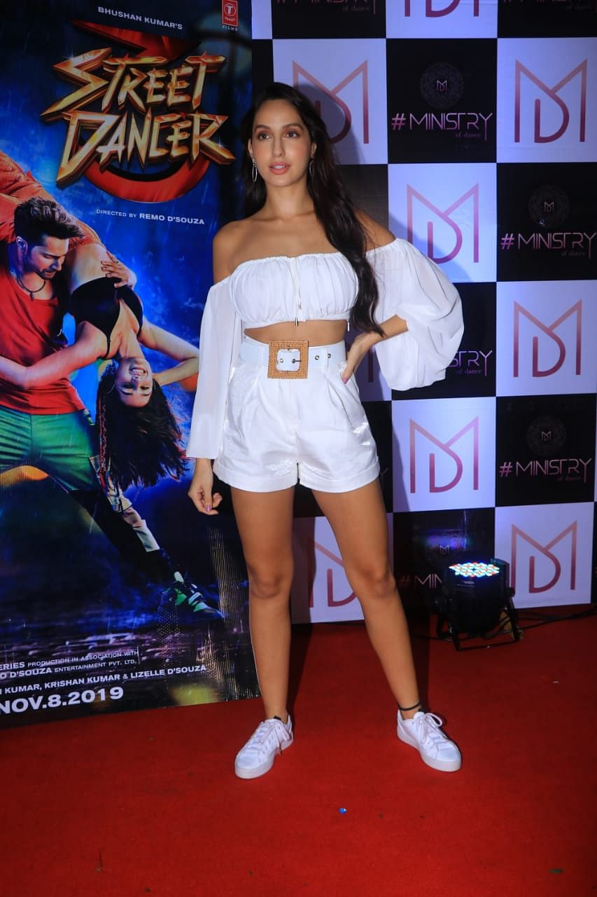Remo D'Souza arranged a wrap up for the team of Street Dancer 3D. Nora Fatehi, Prabhu Deva, Shraddha Kapoor and Varun Dhawan were some faces clicked at the party yesterday.