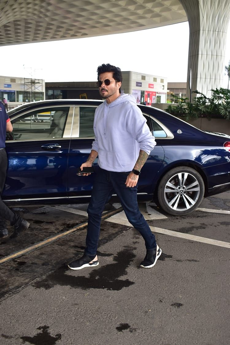 Evergreen actor Anil Kapoor also spotted at the Mumbai airport as he left for Delhi this morning.