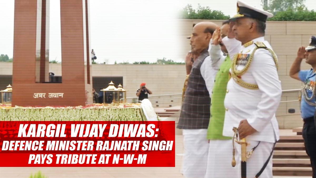 Kargil Vijay Diwas: Defence Minister Rajnath Singh Pays Tribute At National War Memorial