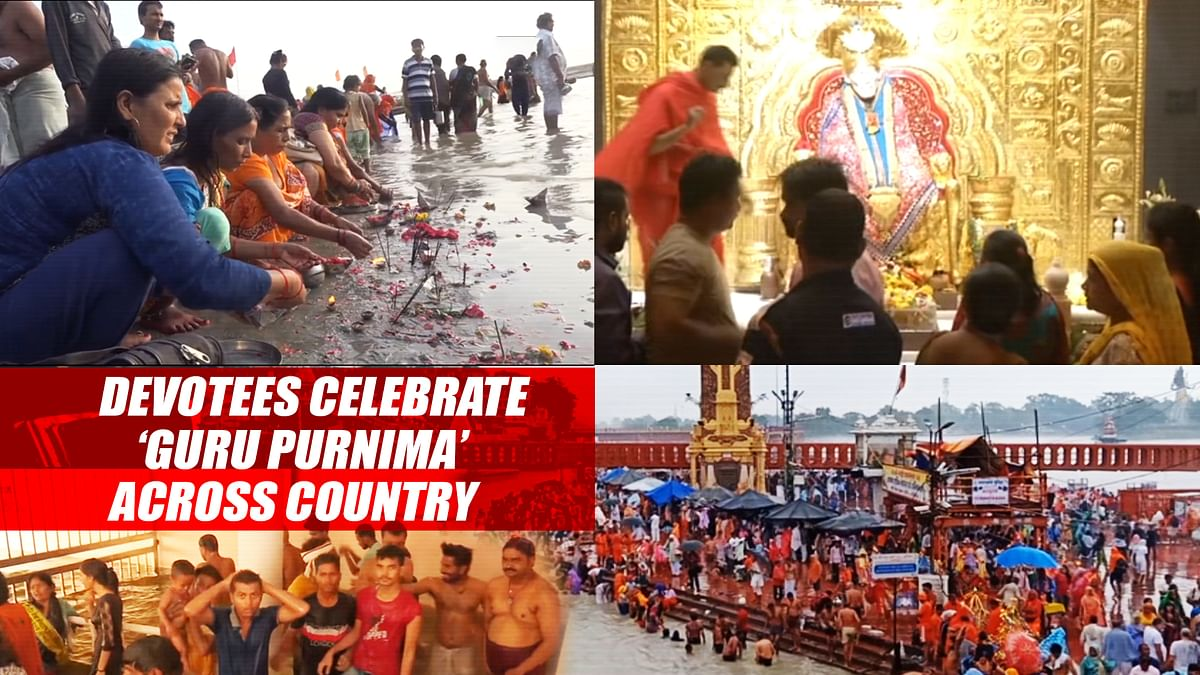 Devotees Celebrate 'Guru Purnima' Across Country
