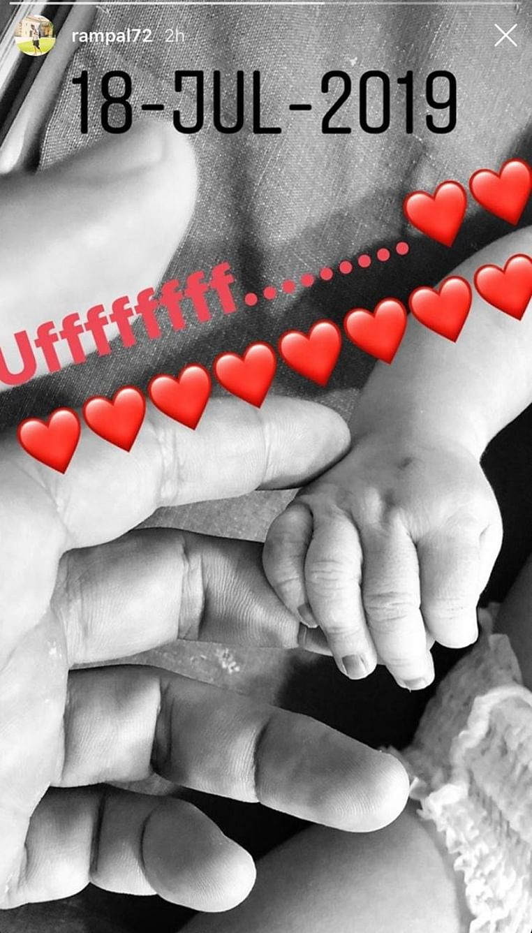 Arjun Rampal shares first picture of his newborn baby boy