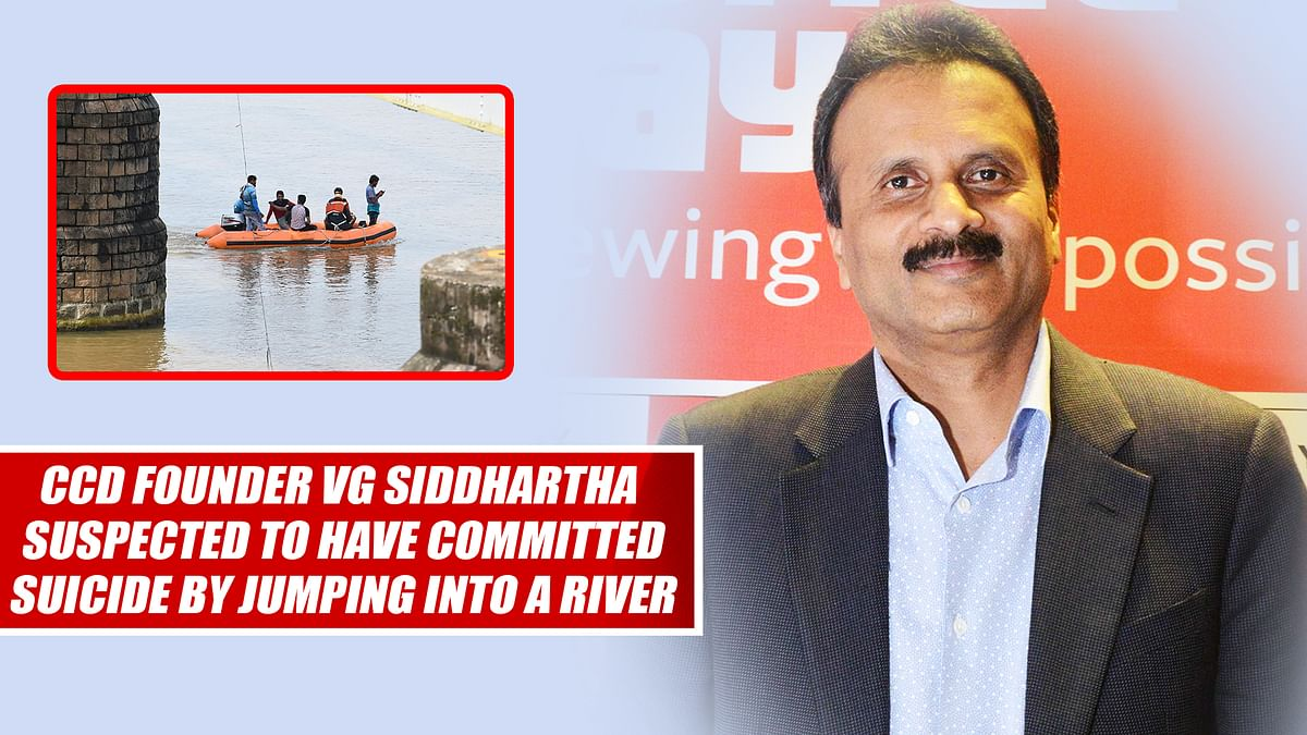 Cafe Coffee Day Founder VG Siddhartha Suspected To Have Committed Suicide By Jumping Into A River