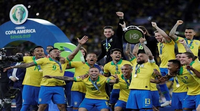 Brazil trounce Peru 3-1, lift Copa America title