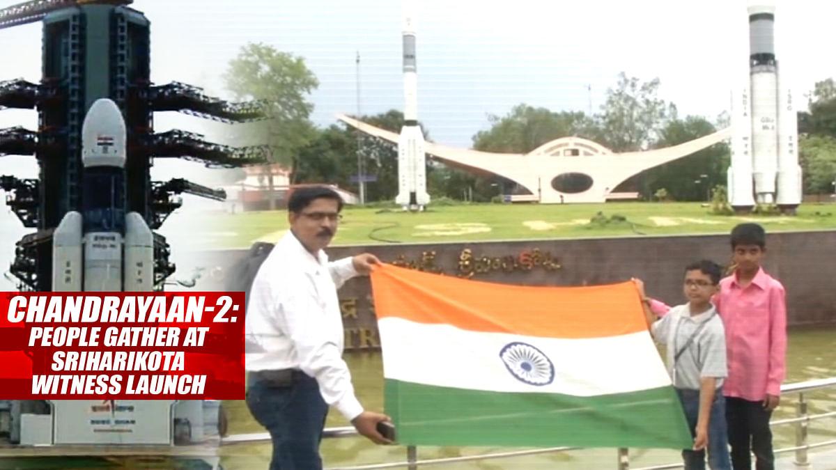 Chandrayaan-2: People Gather At Sriharikota To Witness Launch