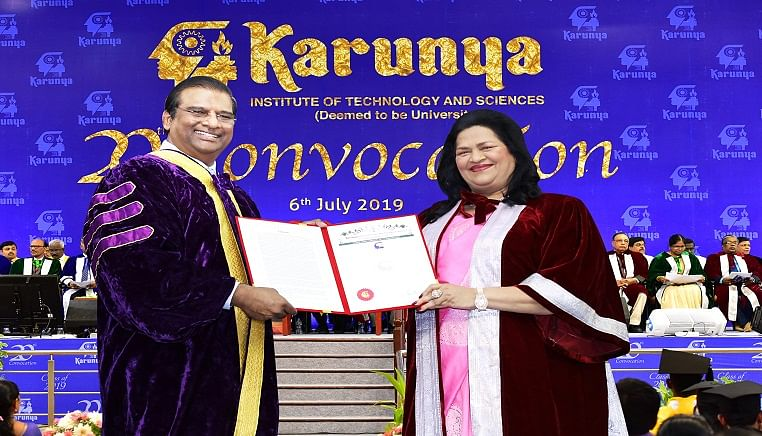 Ryan International MD receives doctorate from Karunya Institute of Technology and Sciences