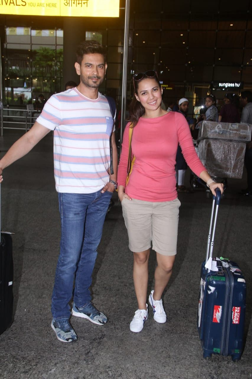 Keith Sequeira and Rochelle Rao spotted at airport