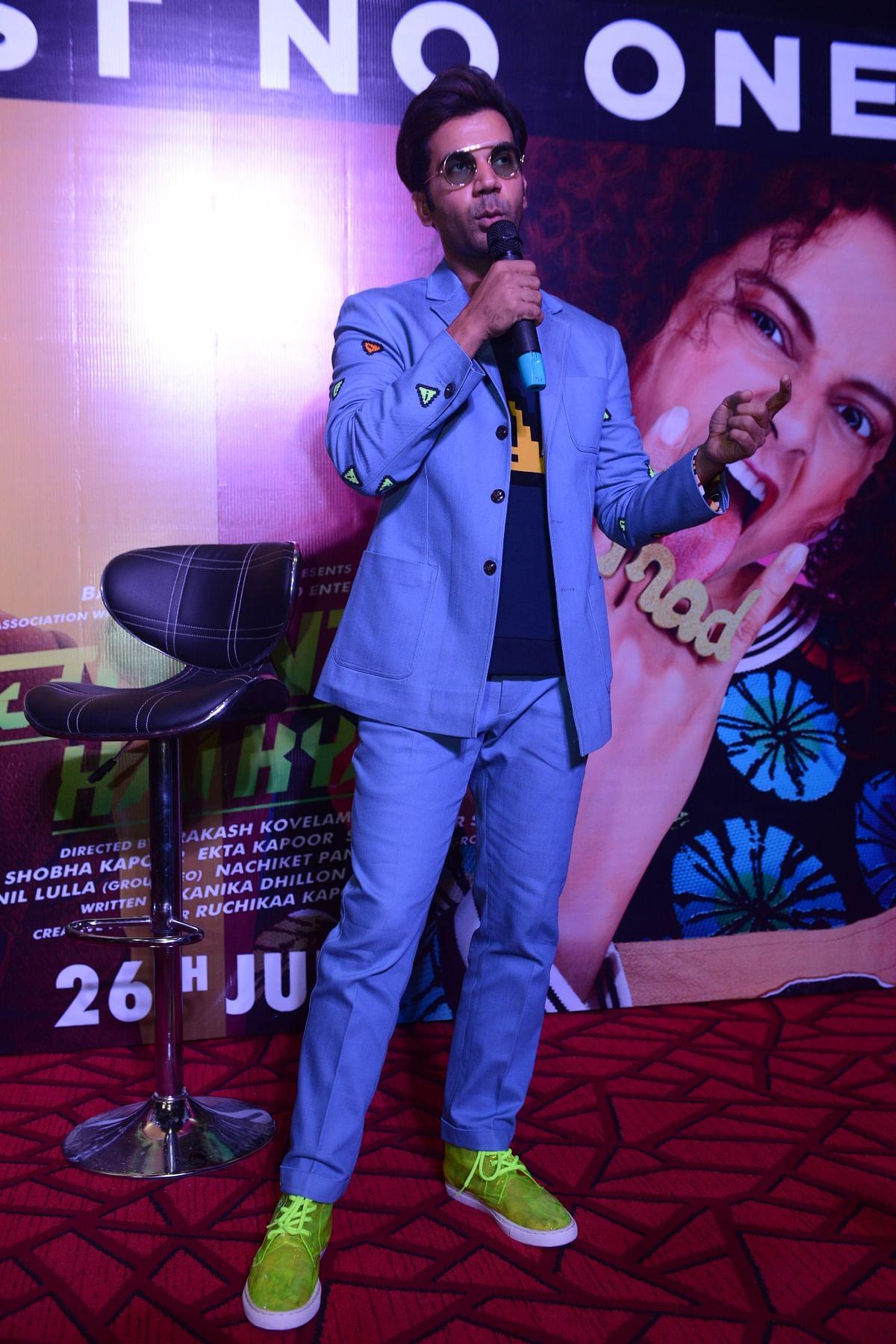 Rajkumar Rao at 'Judgementall Hai Kya' event in Delhi.