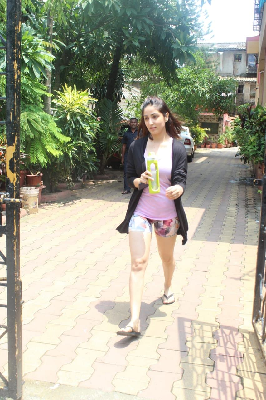 Yami Gautam spotted at Diva Yoga