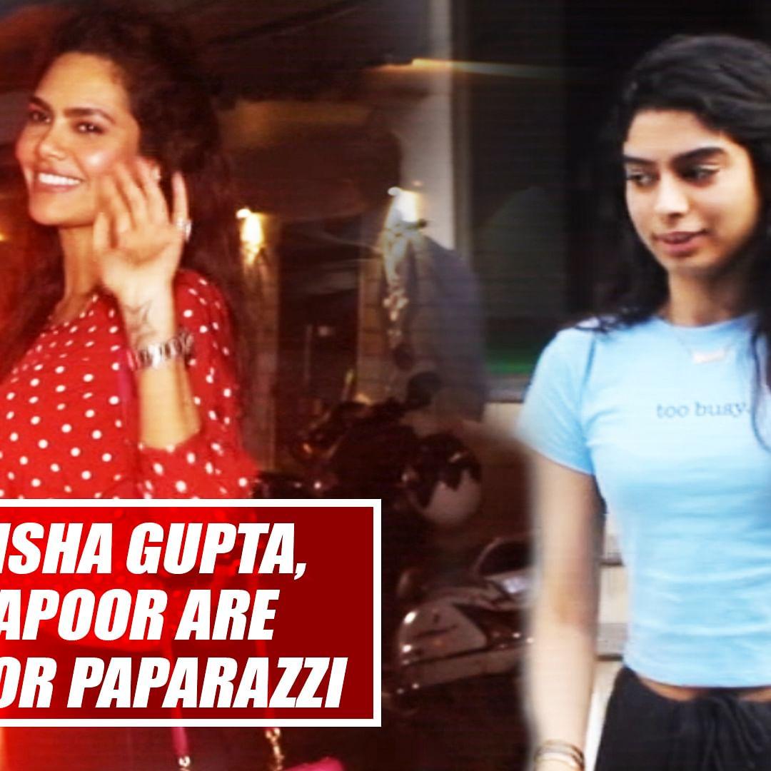 Spotted! Stunning Isha Gupta, Beautifull Khushi Kapoor Are All Smiles For Paparazzi