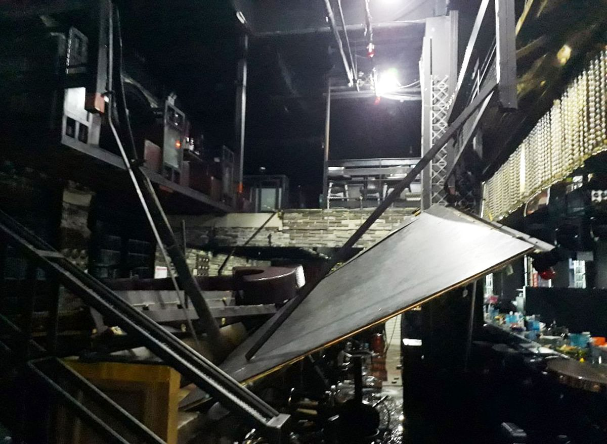 Two people died and 10 were injured, after a nightclub balcony collapsed in Gwangju, South Korea