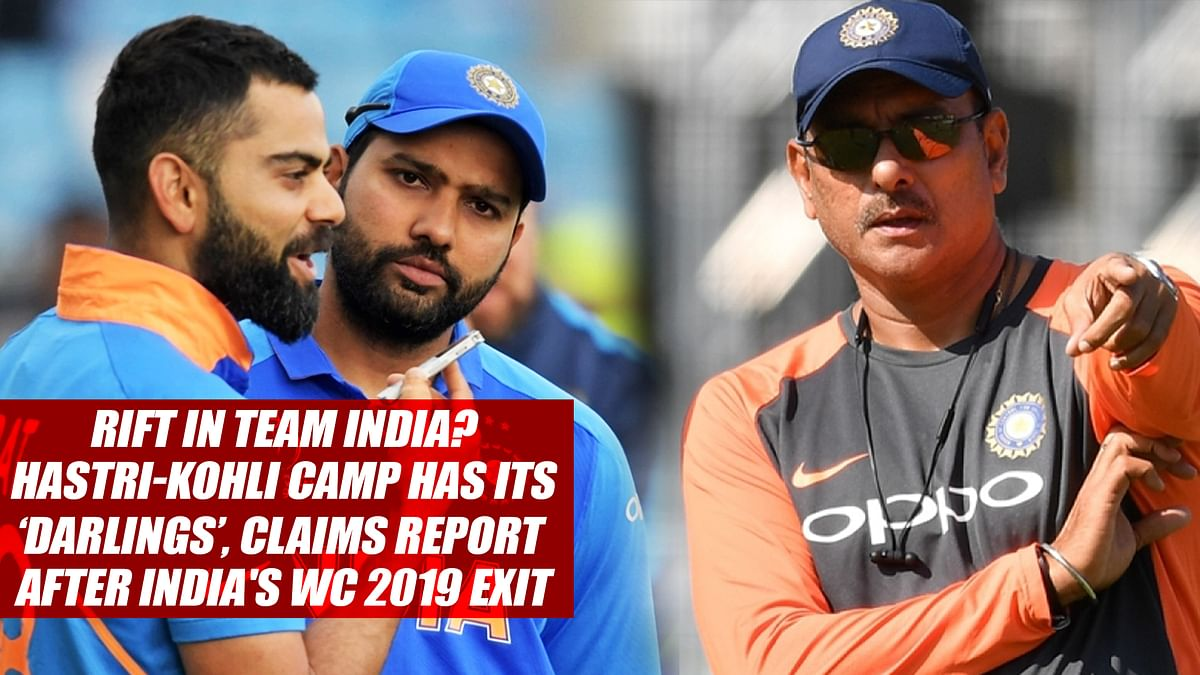 Rift In Team India? Shastri-Kohli Camp Has Its 'Darlings', Claims Report After India's CWC 2019 Exit